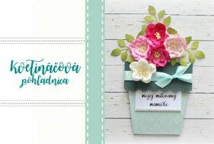 DIY kvetináčová pohľadnica