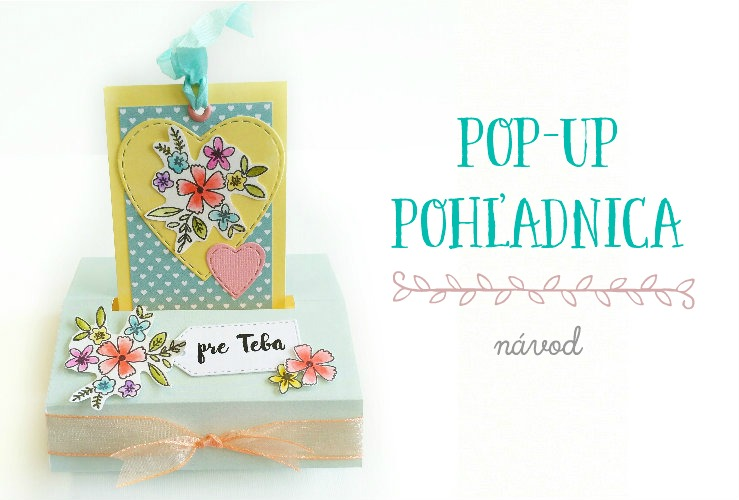 DIY voľne stojaca pop-up pohľadnica