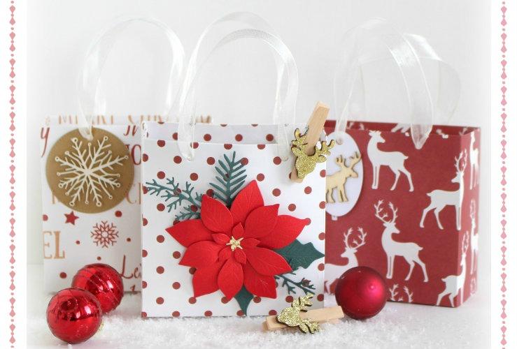 DIY Papierové vianočné taštičky